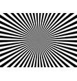 optical illusion deception radial black lines vector image