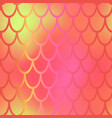 orange yellow mermaid scale seamless pattern vector image vector image