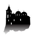 Orthodox church silhouette vector image vector image