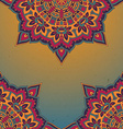 Pattern of the indian floral ornament with a lot vector image vector image