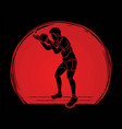 ping pong player table tennis action cartoon vector image