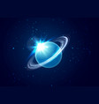 planet uranus in space background with star