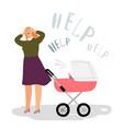 postnatal depression concept vector image
