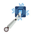 processor circuit with robot hand vector image