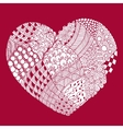 psychedelic heart with doodle Valentine s day vector image vector image