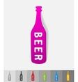 realistic design element bottle of beer vector image vector image