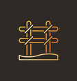 rebar binding colorful outline icon or logo vector image vector image