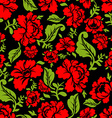 Red Rose seamless pattern Floral texture Russian vector image vector image