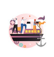 sailor concept for web banner website page vector image