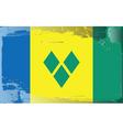 Saint Vincent Grenadines flag vector image