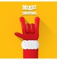 Santa Claus rock n roll gesture icon vector image vector image