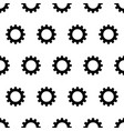 seamless pattern from black gear on a white vector image