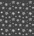 seamless pattern with hand drawn stars vector image vector image