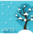 seasonal with winter tree in flat vector image
