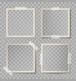 set beige square photo card frames vector image vector image