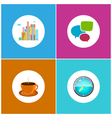 Set Icons Office Work and Business Life vector image