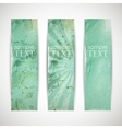 set of azure banners with grunge cardboard texture vector image vector image