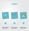 set of business icons flat style symbols with vector image vector image