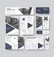 set of modern corporate style with triangular vector image vector image