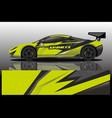 sport car decal wrap design vector image vector image