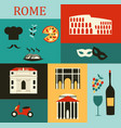 symbols of rome vector image