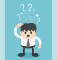 troubled businessman vector image vector image