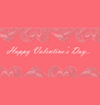 valentine day flyer with ornated zentangle hearts vector image