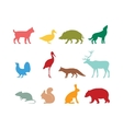 Wild animal silhouette and wild animal symbols vector image vector image
