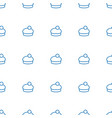 woman hat icon pattern seamless white background vector image vector image