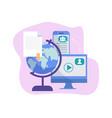 worldwide information exchange data science vector image