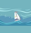 yacht during a storm vector image