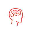 infographic human and brain vector image
