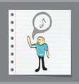 man singing music vector image