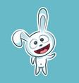 sticker emoji emoticon emotion hi hello waving vector image