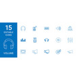 15 volume icons vector image vector image