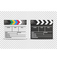 3d realistic closed white and black movie vector image vector image