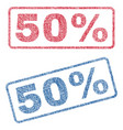 50 percent textile stamps vector image vector image