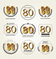 80 years anniversary logo set vector image