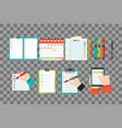 agenda list concept vector image vector image