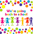 Back to school with happy stylized kids vector image vector image