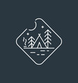 badge camping logo vector image