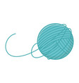 ball wool equipment knitted icon design vector image