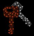 bright mesh network car keys with light spots vector image vector image