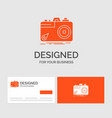 business logo template for camera photography vector image vector image