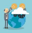 businessman and big idea vector image