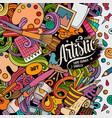 cartoon doodles art card artistic funny vector image vector image