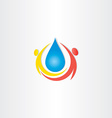 cold mineral drop water people icon vector image vector image