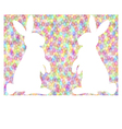 colorful easter background with rabbits vector image vector image