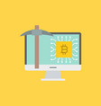 cryptocurrency mining icon concept vector image