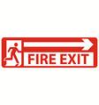emergency fire exit door and exit door vector image vector image